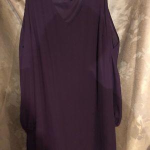 Eggplant open sleeve dress